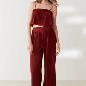 Out from under urban outfitters maroon pant set